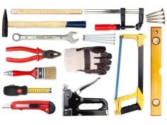 Ein Set vieler verschiedener Werkzeuge